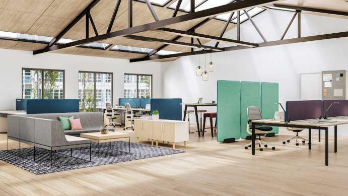 Controllo dell'acustica con mobili per ufficio e design del posto di lavoro Design for Acoustical Privacy