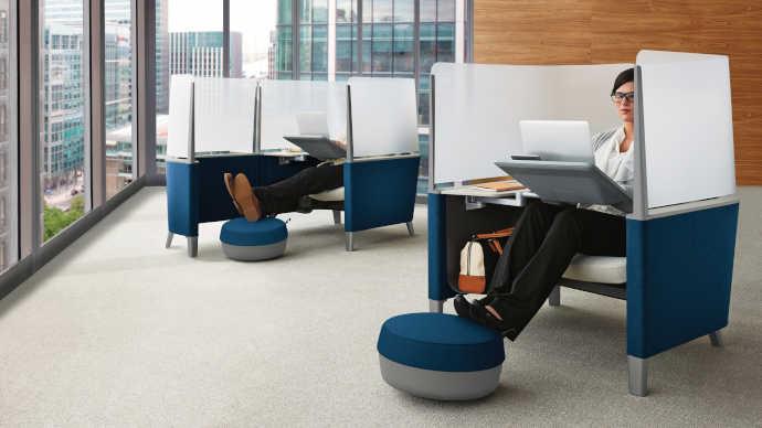 Controllo dell'acustica con mobili per ufficio e design del posto di lavoro acustica in ufficio2