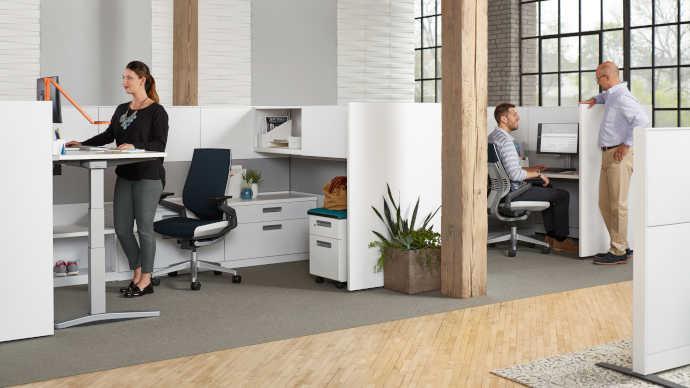 Controllo dell'acustica con mobili per ufficio e design del posto di lavoro furniture to reduce noise